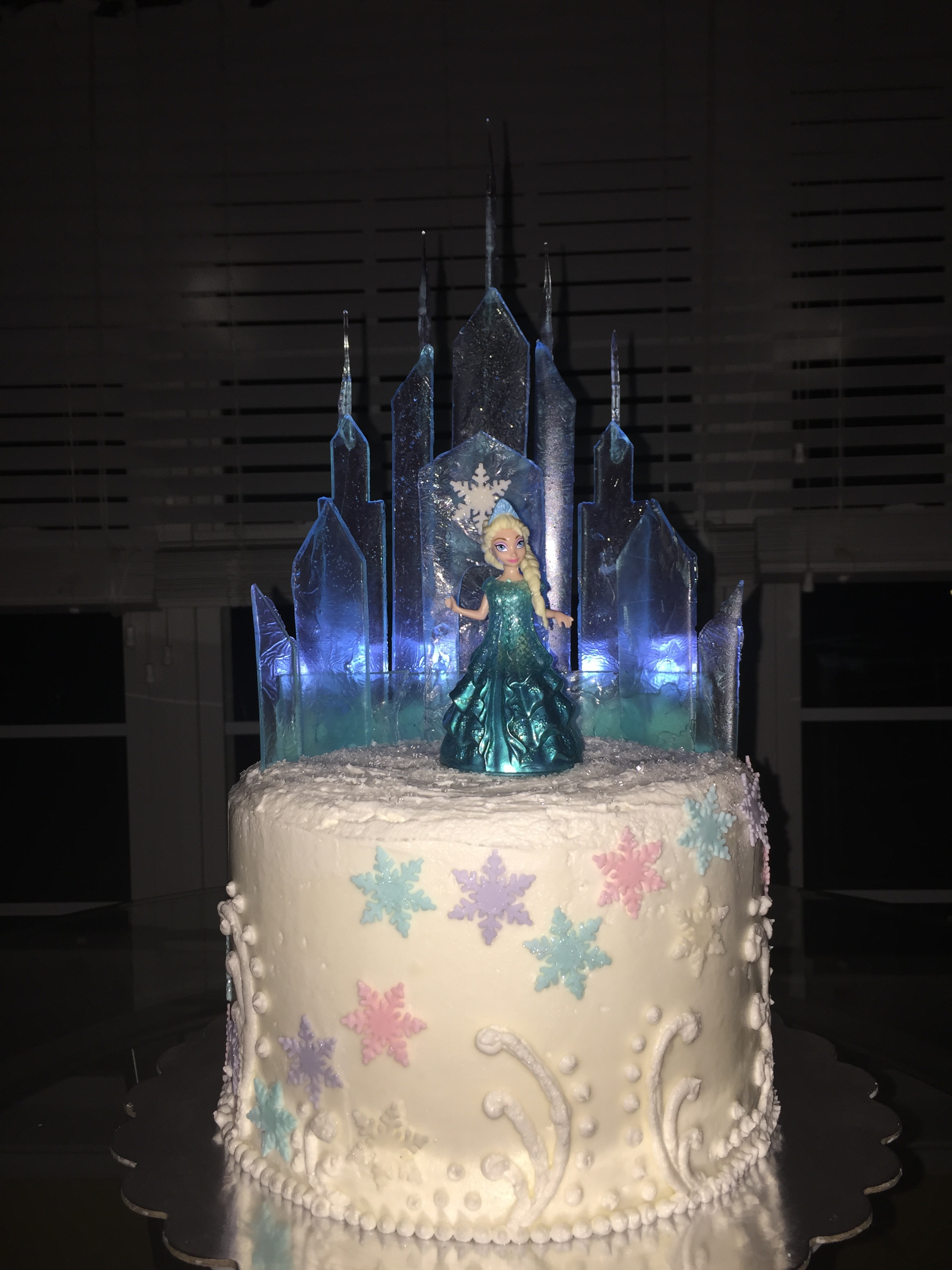 Elsa S Ice Castle Frozen Cake Madam Mixalot